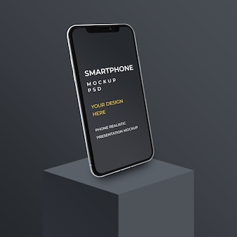 Zbliżenie na makietę prezentacji aplikacji na smartfony