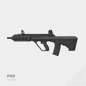 Zbliżenie na pistolet na białym tle premium psd