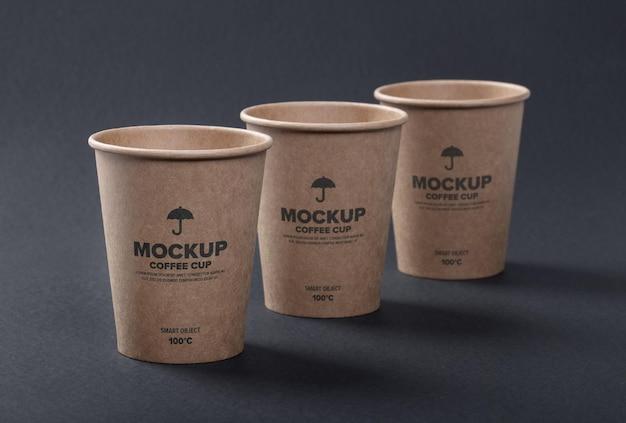 Zbliżenie na projekt makiety filiżanki kawy