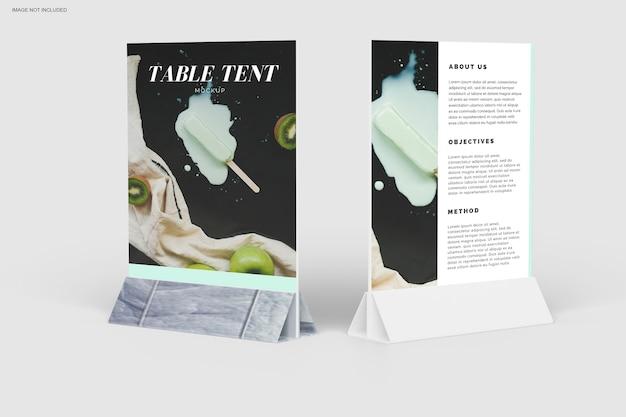 Zbliżenie na projekt makiety namiotu stołowego