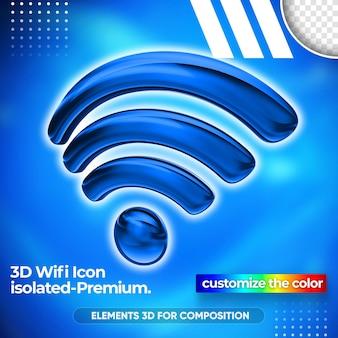 Zbliżenie na projekt renderowania 3d sieci wifi