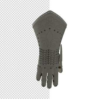 Zbliżenie na rękawicę wojownika izolowane premium psd