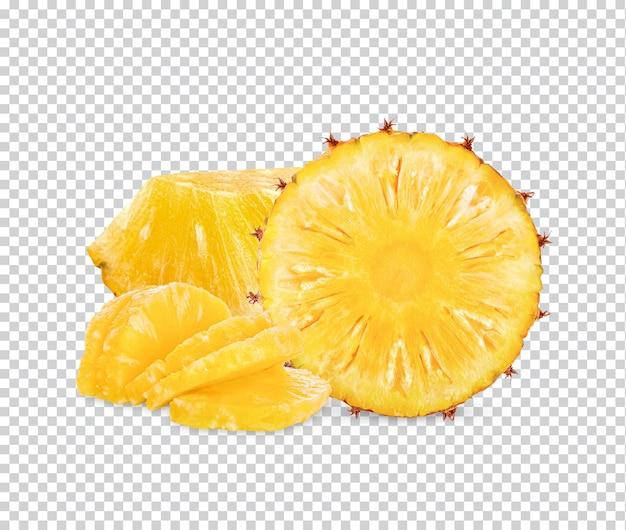Zbliżenie na świeżego ananasa na białym tle