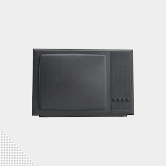 Zbliżenie na tube tv na białym tle