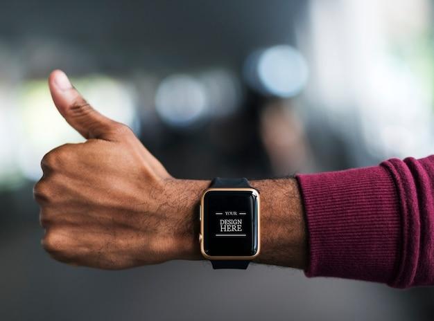 Zbliżenie smartwatch mockup