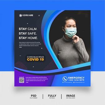 Zdrowie medyczne media społecznościowe post banner