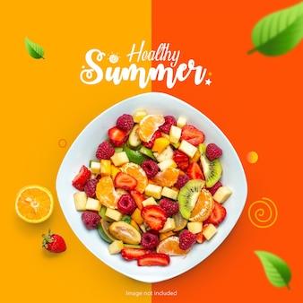 Zdrowy letni baner owocowy