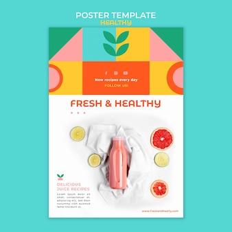 Zdrowy szablon plakatu