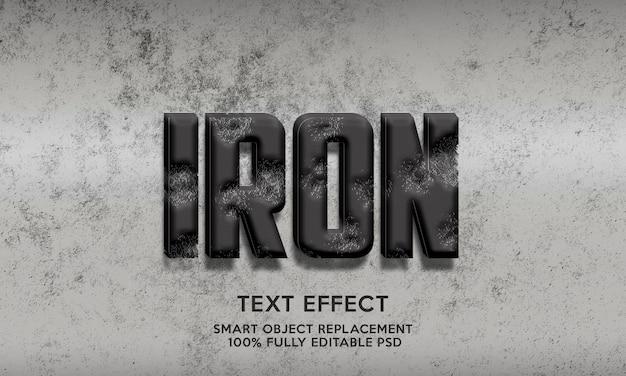 Żelazny szablon efektu tekstowego