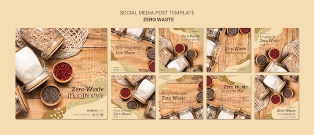 Zero marnotrawstwa szablon mediów społecznościowych