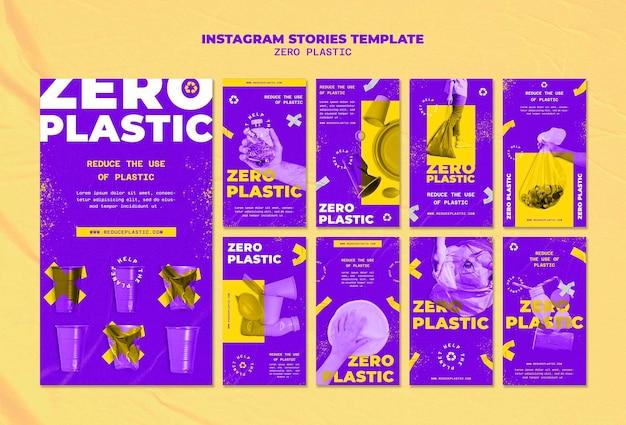 Zero plastikowego szablonu projektu insta story