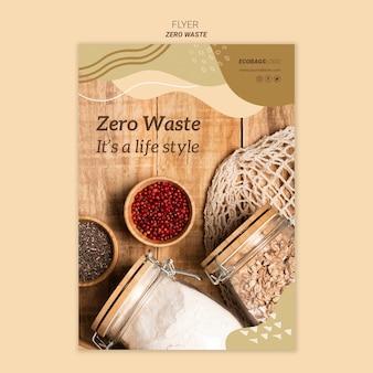 Zero szablon ulotki odpadów