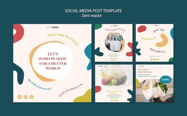 Zero waste post w mediach społecznościowych