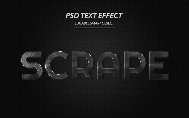 Zeskrob szablon projektu efektu tekstu
