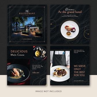 Zestaw banerów restauracji