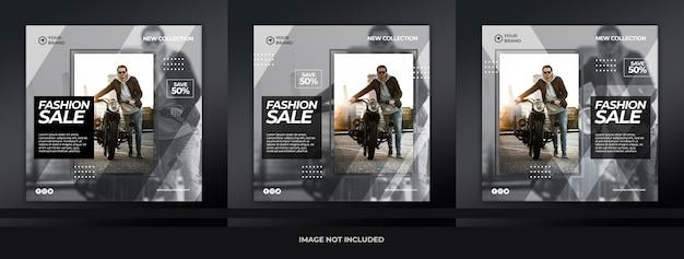 Zestaw bannerów mody