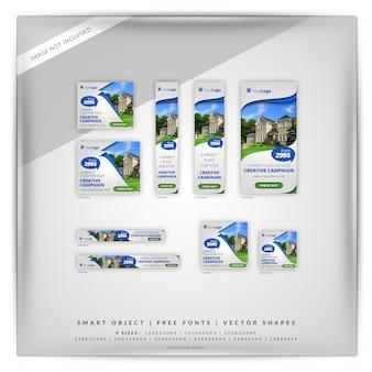 Zestaw Bannerów Reklamowych Google Premium Psd