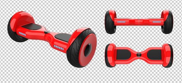 Zestaw czerwonych skuterów samobalansujących