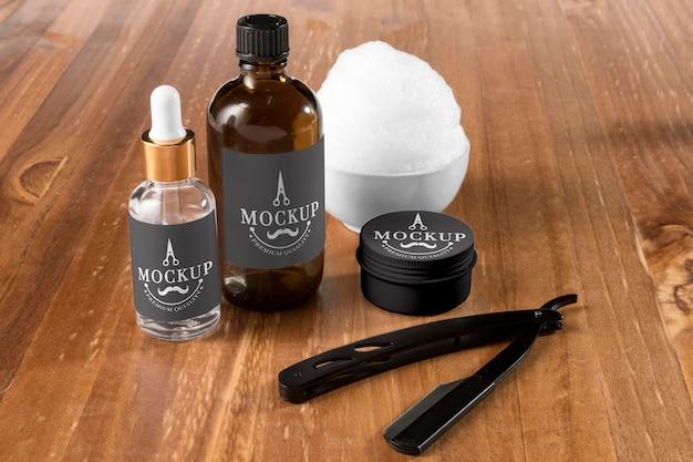 Zestaw do pielęgnacji brody pod wysokim kątem z balsamem i serum