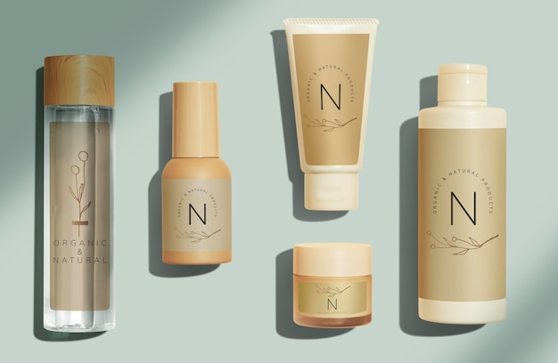 Zestaw do projektowania makiet produktów kosmetycznych