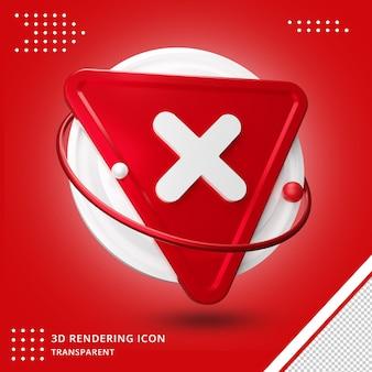 Zestaw ikon symbolu krzyża zaznaczenia renderowania 3d