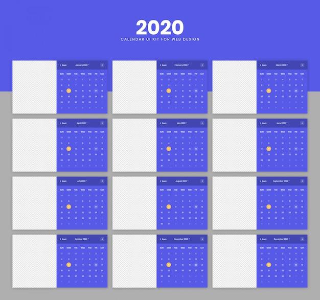 Zestaw interfejsu kalendarza