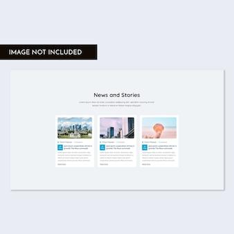 Zestaw interfejsu użytkownika w sekcji blogów