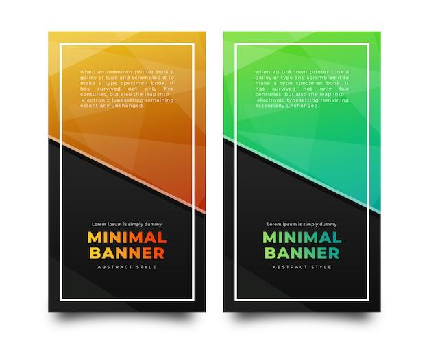 Zestaw kolekcji pionowych banerów streszczenie