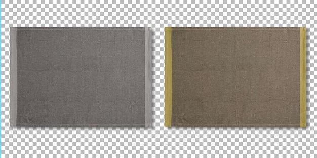 Zestaw kolorowych podkładek do serwowania jedzenia na białym tle na przezroczystości.