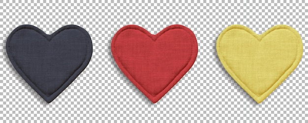 Zestaw kolorowych rękawic kuchennych w kształcie serca, ochrona przed ciepłem i bezpieczeństwo izolowany na przezroczystości