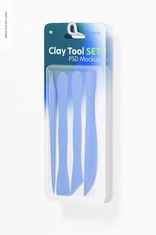 Zestaw makiet clay tool, wiszący na ścianie