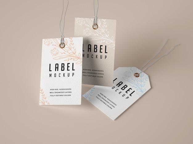 Zestaw makiet etykiety papierowej