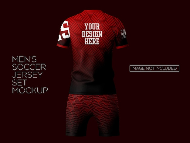 Zestaw makiety koszulki piłkarskiej