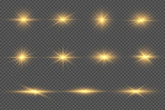 Zestaw przezroczystych flar do obiektywów cyfrowych
