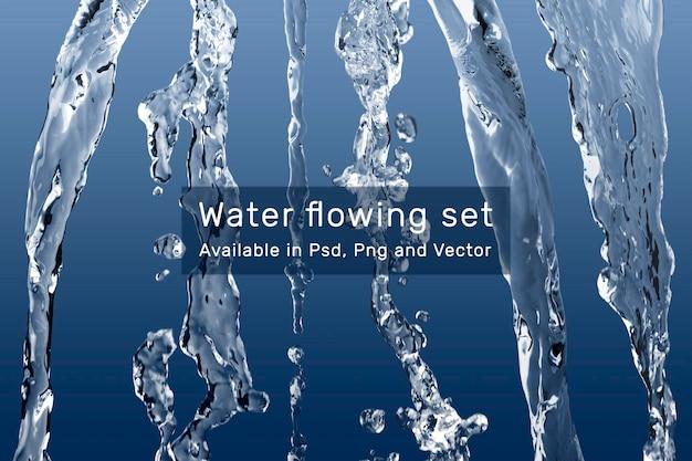 Zestaw psd płynącej wody