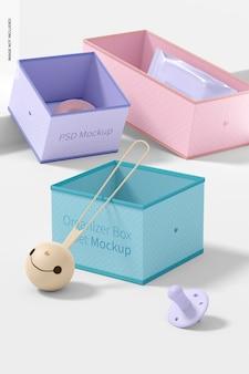 Zestaw pudełek z organizerem na tkaniny .