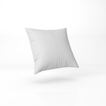 Zestaw puste poduszki na białym tle