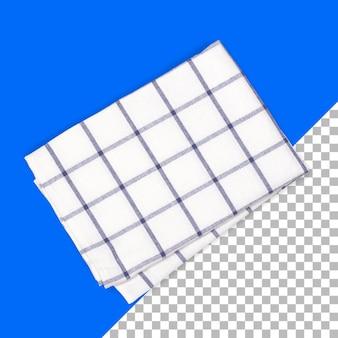 Zestaw ręczników w paski na białym tle