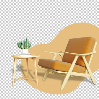 Zestaw renderowania 3d wnętrza makiety