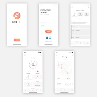 Zestaw smart mobile ui kit