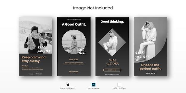 Zestaw szablonów historii instagram mody
