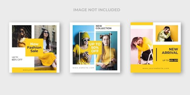 Zestaw szablonów instagram moda post