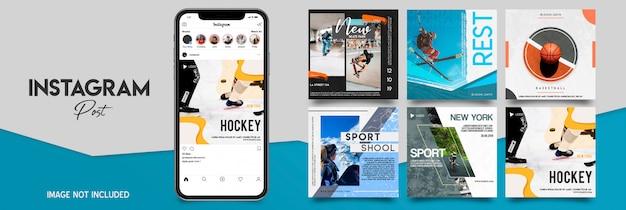 Zestaw szablonów instagram sportu