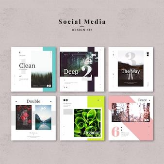 Zestaw szablonów mediów społecznościowych