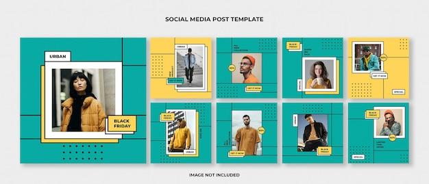 Zestaw szablonów postów na instagramie mody