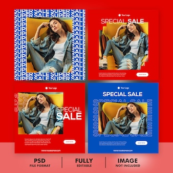 Zestaw szablonów transparent sprzedaż specjalna