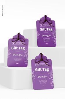Zestaw tagów prezentowych makieta