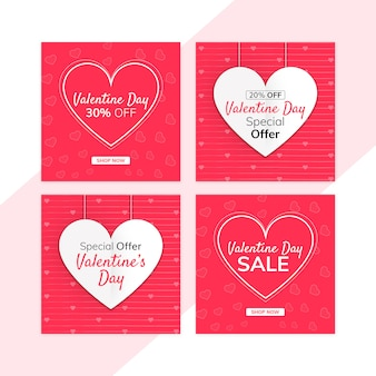 Zestaw transparent sprzedaż valentine