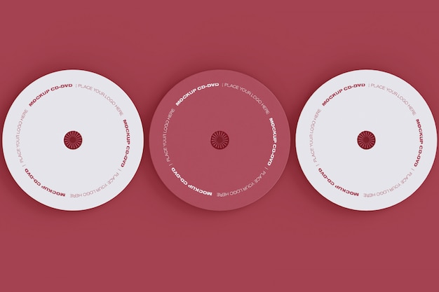Zestaw trzech makiet płyt cd