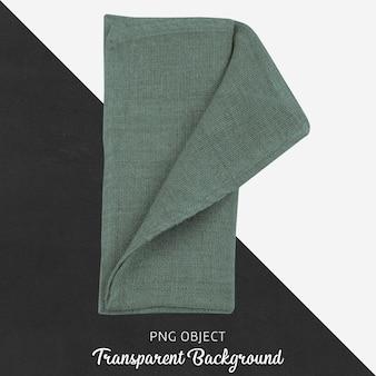 Zielona tkanina na przezroczystym tle